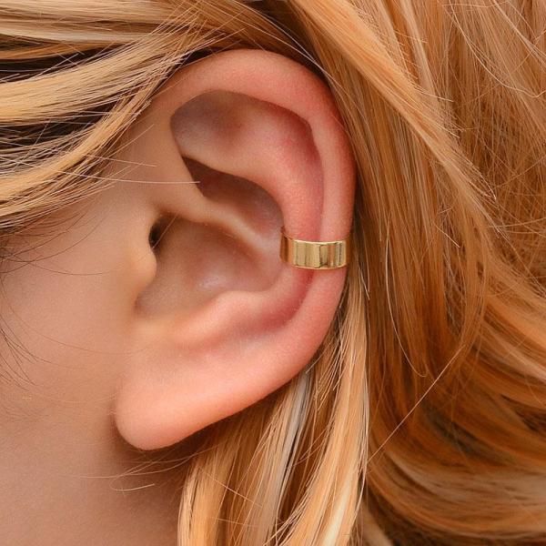 Non Pierced Clip Earring Trendy Punk Antique Color