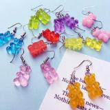 Colorful Cartoon Bear Earring Lovely Women&Girl