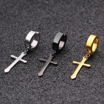 Non Piercing Earrings Black Gold Color Punk Rock Drop