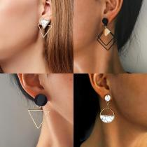 Drop Korean Earrings For Women Round Heart