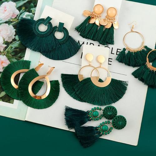 Bohemian Drop Earrings for Women Long Fringe Drop