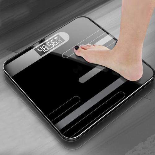 Bathroom Body Floor Scales Bath Scale Body Weighing Digital Body Weight Scale LCD Display Glass Smart Electronic Scales