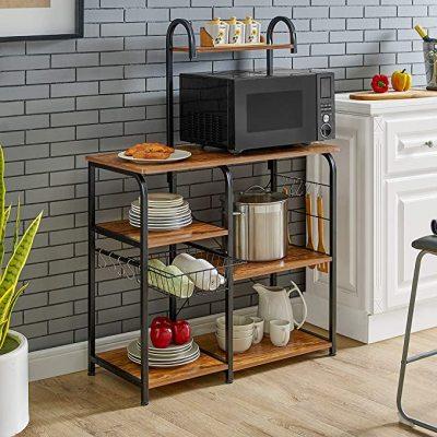 LOVIVER 8pcs Soporte De Toalla De T/é De Montaje En Pared Push In Dish Cloth Kitchen Tea Towel Rack