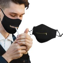 SOLID WASHABLE ZIPPER MASK