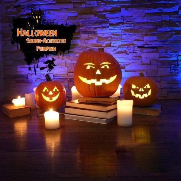 Halloween. 2020 17.99 US$ 17.99   Factory Outlet Halloween Sound Activated Pumpkin   m