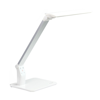 Touch Sensor 1000Lux LED Desk Lamp with USB Charging Port 5 Levels Dimmable 5 Color Mode Table Light for Working Studying