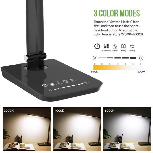 Eye-care USB LED desk lamp CCT adjustable for living room hotel office