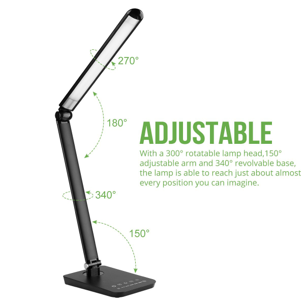9W Black White Dimmable led desk lamp LED Residential Lighting Wholesale Touch Control CCT
