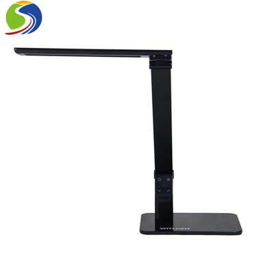 Eye-caring Piano Black led table lamp With USB Charging Port For Office Living Room Hotel