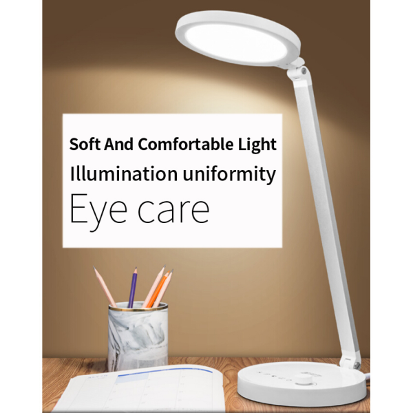 Round Design CCT adjustable knob control LED Table Lamp Desk Lamp With USB Port