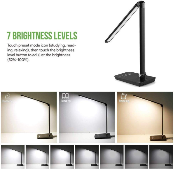 8W LED Table Lamp Amazon Hotsale with USB Charging Port CE Rohs FCC Certificate