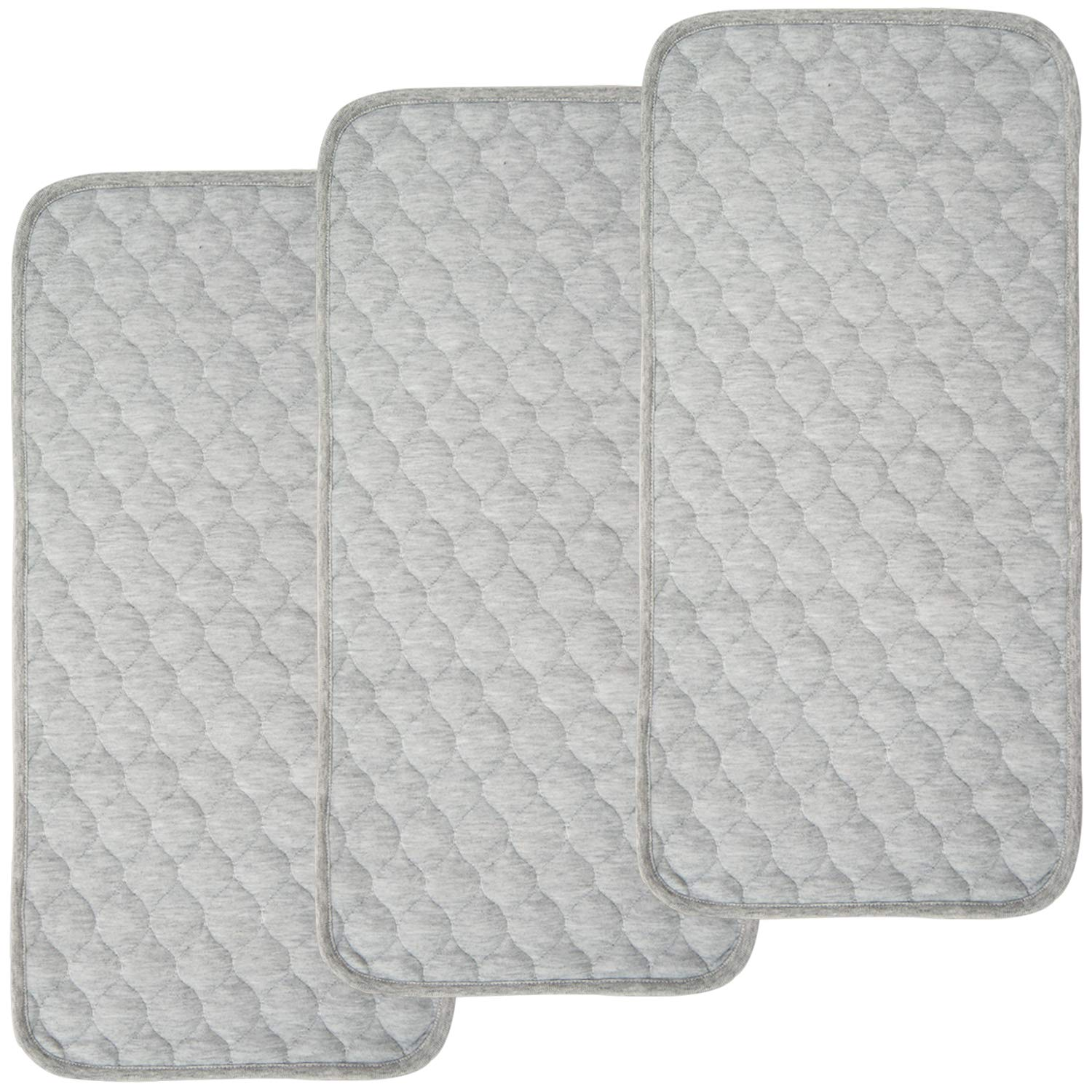 BlueSnail Bamboo Quilted Thicker Waterproof Changing Pad Liners, 3 Count