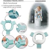 3-in-1 Go Potty for Travel, Portable Folding Compact Toilet Seat,Potty Training Toilet Chairs for Toddler Boys & Girls by BlueSnail
