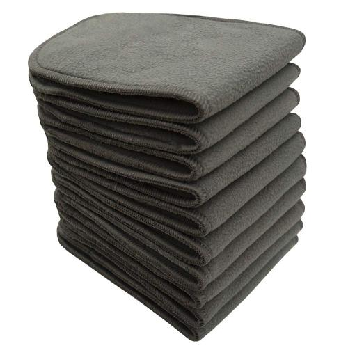 Bluesnail Absorbent and Soft Cloth Diaper Liner, Washable Charcoal Bamboo Reusable Inserts