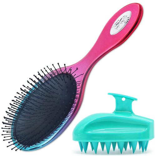Oleh-Oleh Detangle Hair Brush Pro for Wet and Dry Hair + Shampoo Brush,Scalp Massager