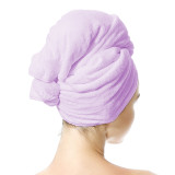 Oleh-Oleh New Style Super-absorbent Microfiber Hair Drying Towel,Muti-functional,Easily Fixed for Long Hair Over Shoulder & Thick & Curly Hair, Anti-Frizz