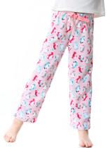 OLEH-OLEH Little Kid and Toddler Boy's Pajama Pants, Soft Casual Loose Fleece Lounge Bottoms