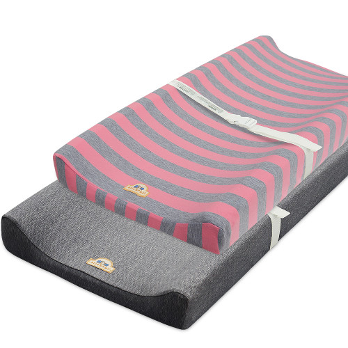 BlueSnail Yarn-Dyed Color-Stripes Ultra Soft Changing Pad Cover