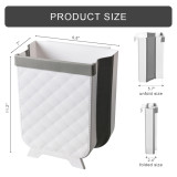 BlueSnail Collapsible Hanging Kitchen Trash Can, Small Compact Waste Bin for Cabinet/Car/Bedroom/Bathroom