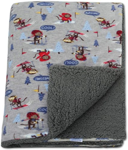 BlueSnail Super Soft Plush Shepra Fleece Baby Throw Blanket with Double Microfleece Layer for Boys and Girls