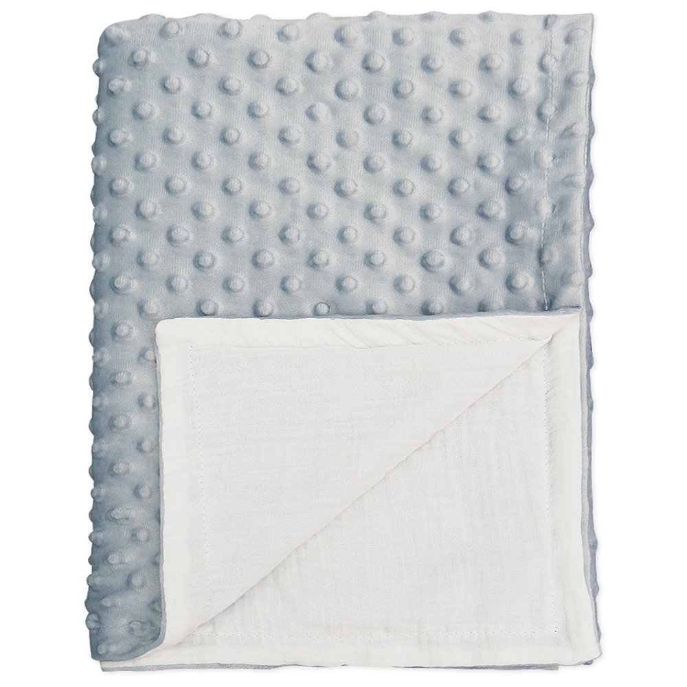 BlueSnail Baby Minky Blanket with Plush Shepra Fleece for Boys and Girls