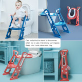 Potty Training Toilet Seat with Step Stool Ladder for Kids and Toddler, Sturdy Potty Ladder with Soft Padded Cushion for Boys and Girls by BlueSnail