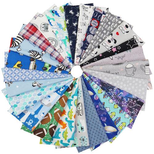 50pcs 9.8  x 9.8  (25cm x 25cm) Cotton Quilting Fabric Bundles Squares Set for Patchwork,Sewing,DIY,Doll Clothes by BlueSnail