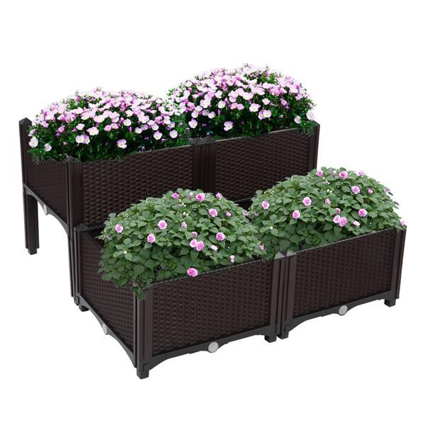 Plastic Planting Box 4 Basins 16 Extended Feet