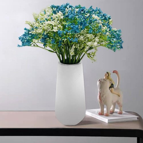 16Pcs Artificial Babys Breath Gypsophila Flowers Bouquet - Fake Real Touch Flowers for Wedding Decoration Home Kitchen Party Home Decor