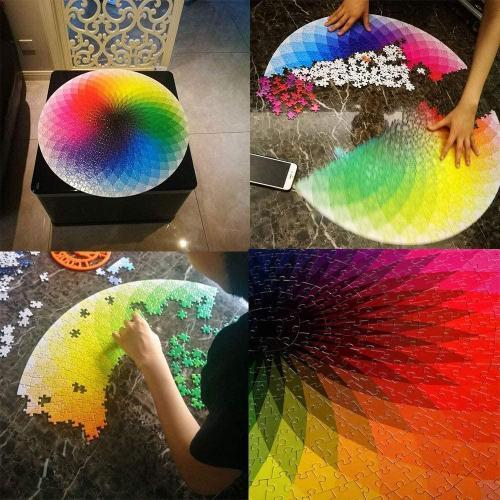 1000 Pcs Rainbow Round Puzzle -Buy 2 Save 10%+Free Shipping