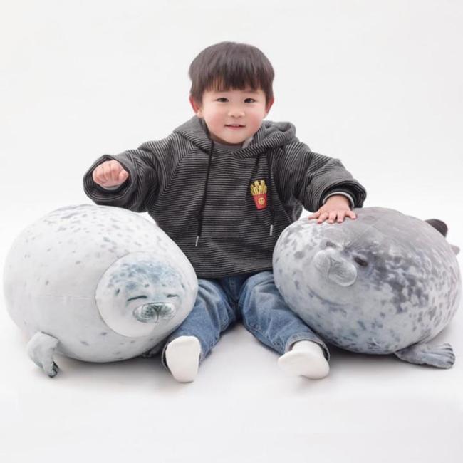 (Buy 2 Get Free Shipping)Fluffy Plush Seal Pillow