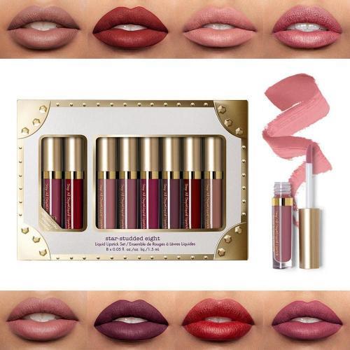 8pcs/set Everlasting Matte Liquid Lipstick