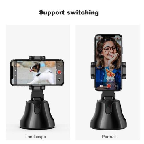 360 Rotation Auto Face Tracking Smart Capture Selfie Sticks Phone Holder