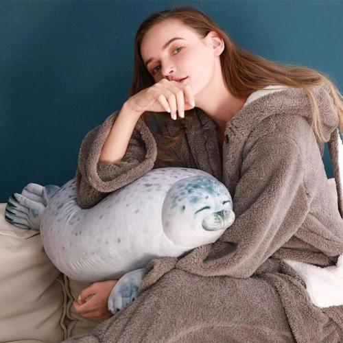 (Buy 2 Get Free Shipping)Fluffy Plush Seal Pillow