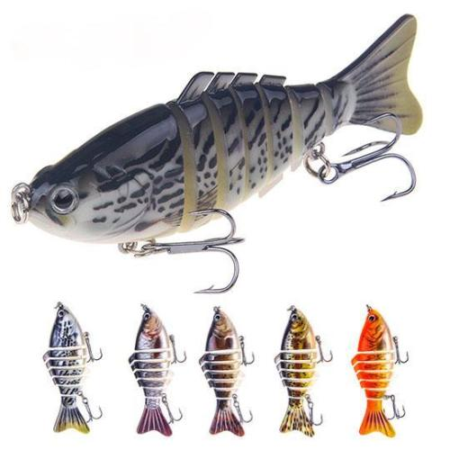 7 Segment Pro Bass Fishing Wobbler