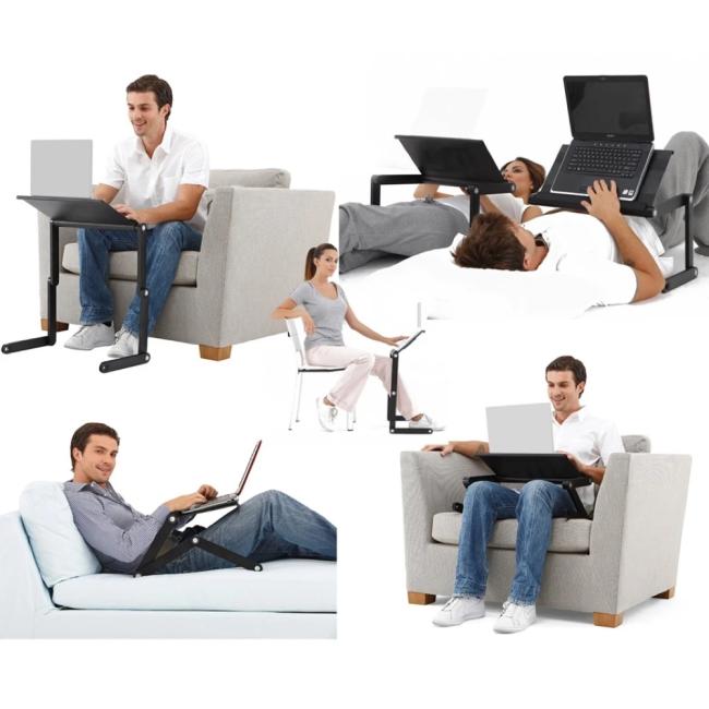 2020 New Adjustable Ergonomic Portable Aluminum Laptop Desk【Free shipping 】