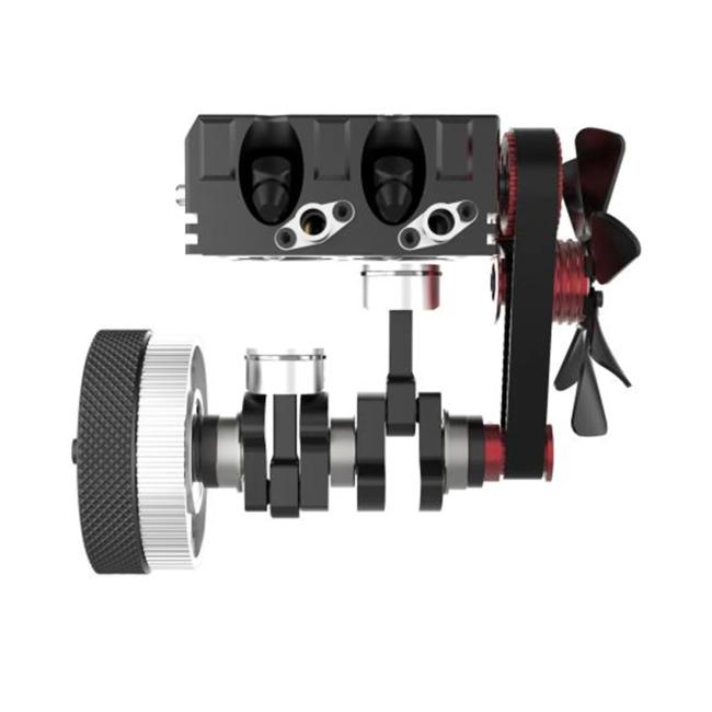 Fuel 2-cylinder 4-stroke nitro RC engine model