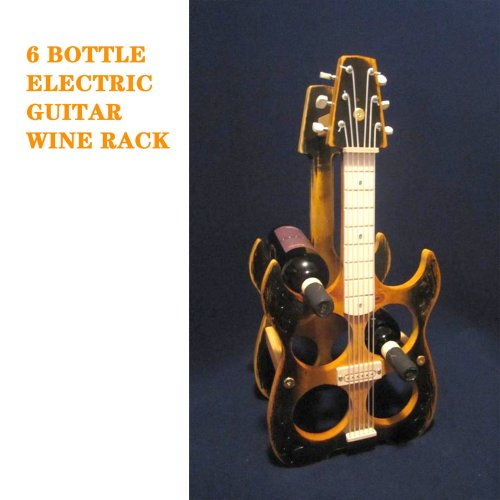 BOTTLE ELECTRIC GUITAR WINE RACK