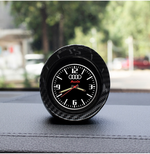 Car carbon fiber clock ornaments