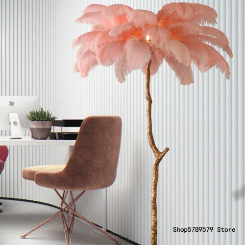 Real feather fashion floor lamp