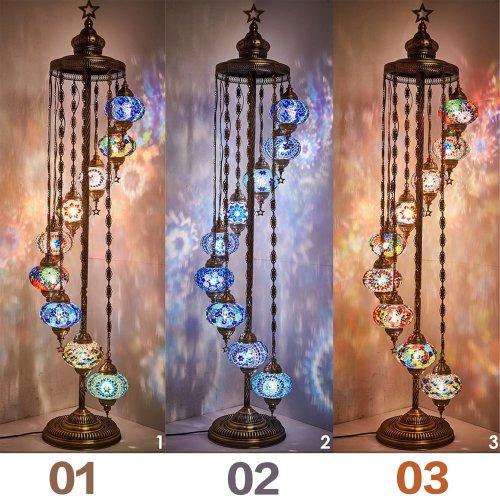 Handmade 9 ball floor lamp【Buy 2 Free shipping】