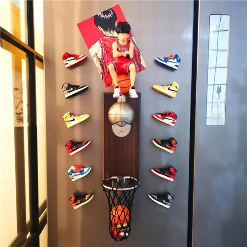 Creative three-dimensional aj basketball model refrigerator magnetic stickers