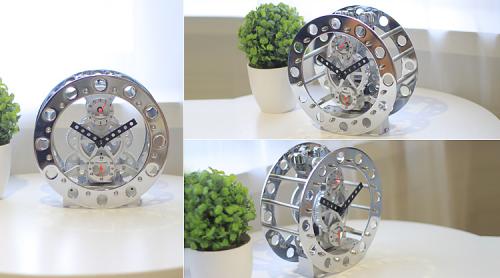Mechanical modeling gear clock