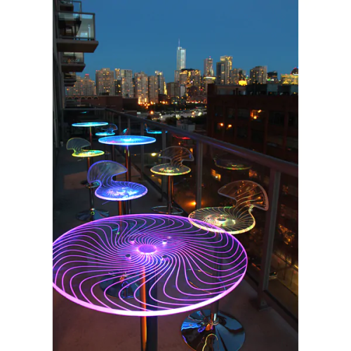 Porch & Den Range Rainbow LED Bar Stool Set