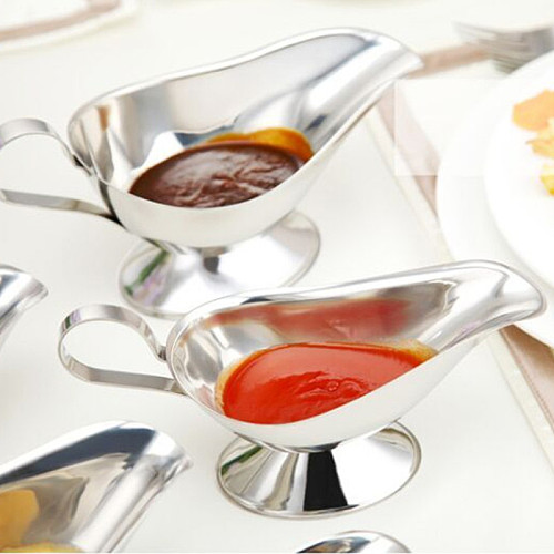 304 Stainless Steel Sauce Boat Steak Black Pepper Sauce Tableware Sauce Boat Tomato Juice Container Kitchen Restaurant Bar Tool