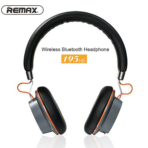 Remax 195HB Wireless Headphones Bluetooth Stereo Hands Free Headset headphone with 3.5mm jack microphone cable for Iphone Xiaomi