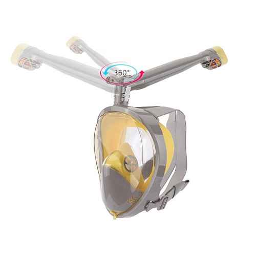 New Snorkel Mask Scuba Underwater Diving Mask 360 Degree Rotate Full Face Snorkeling Masks 180 View Anti-fog Anti-Leak