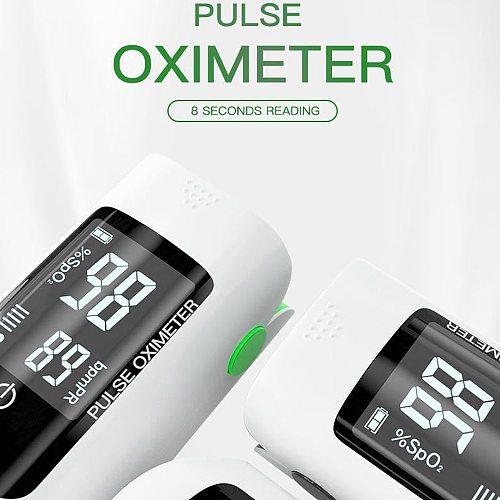 1pc Blood Oxygen Monitor OLED display Blood Oxygen Finger Pulse Digital Fingertip Oximeter Oxygen Saturation Monitor (No Battery