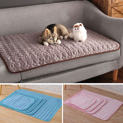 Summer Cooling Mats For Pets Ice Blanket Dogs Cats Sofa Portable Sleeping Pet Accessories Cushion Bed Pad Blanket