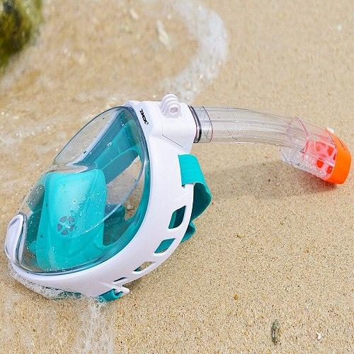 New Full Face Snorkeling Masks Panoramic View Anti-fog Anti-Leak Swimming Snorkel Scuba Underwater Diving Mask GoPro Compatible